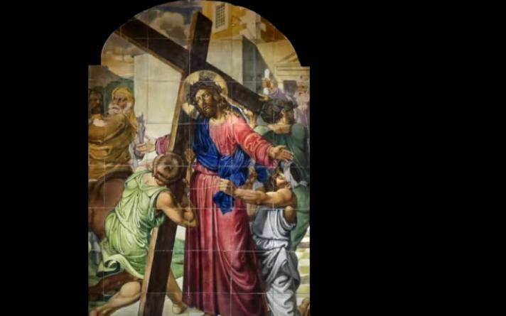 Celebración del Via crucis. Pascua 2020.